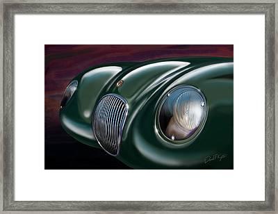 Jaguar C Type Framed Print by David Kyte