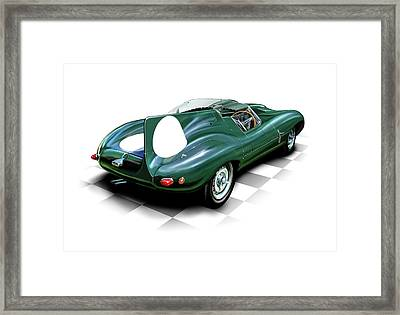 Jaguar D Type Framed Print by David Kyte