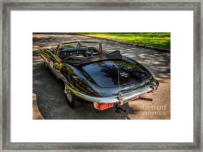 Jaguar E-type Framed Print by Adrian Evans