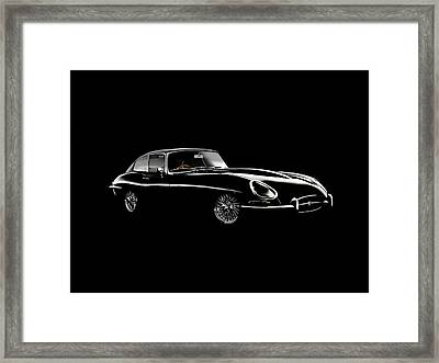 Jaguar E Type Black Edition Framed Print by Mark Rogan