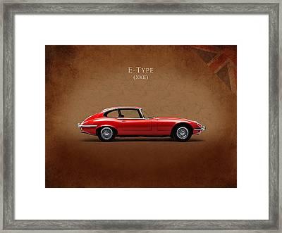 Jaguar E Type Framed Print by Mark Rogan