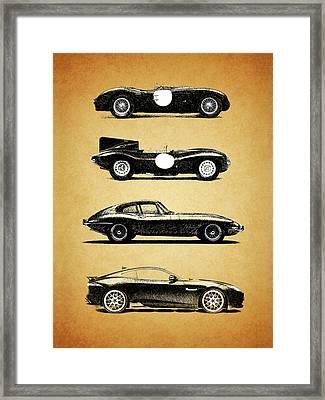 Jaguar Evolution Framed Print by Mark Rogan