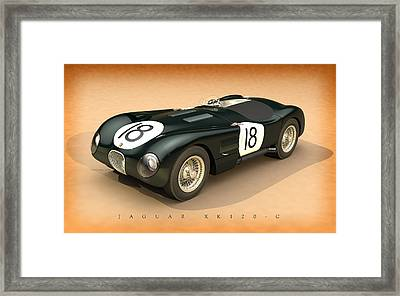 Jaguar Xk120-c Three-quarters Framed Print by Pete Chadwell