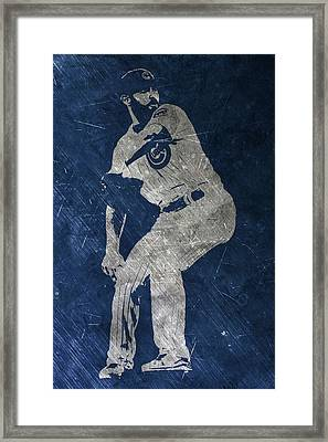 Jake Arrieta Chicago Cubs Art Framed Print by Joe Hamilton