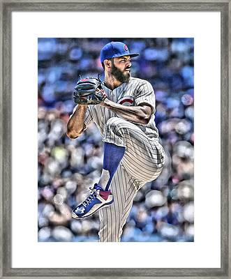 Jake Arrieta Chicago Cubs Framed Print by Joe Hamilton