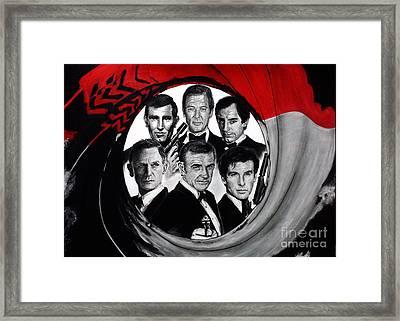James Bond Tribute Framed Print by S G Williams