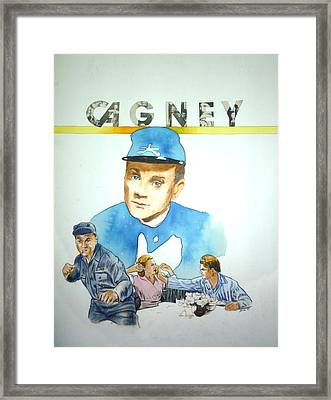 James Cagney Framed Print by Bryan Bustard