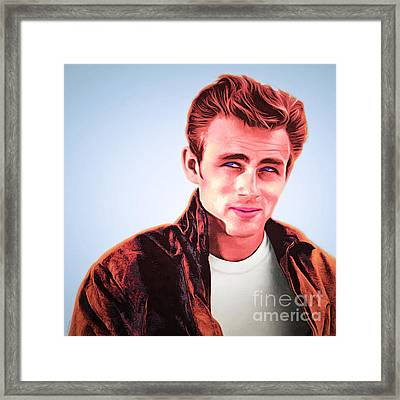 James Dean 20160415 Square Framed Print by Wingsdomain Art and Photography