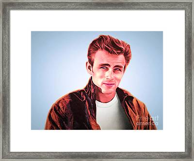 James Dean 20160415 Framed Print by Wingsdomain Art and Photography