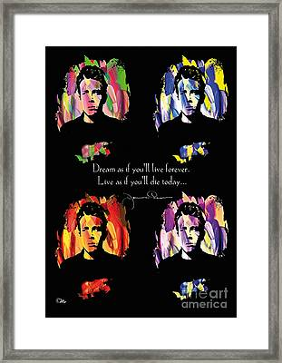 James Dean Framed Print by Mo T