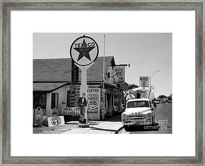 James Dean On Route 66 Framed Print by David Lee Thompson