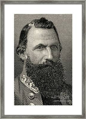 James Ewell Brown  Jeb Stuart Framed Print by American School