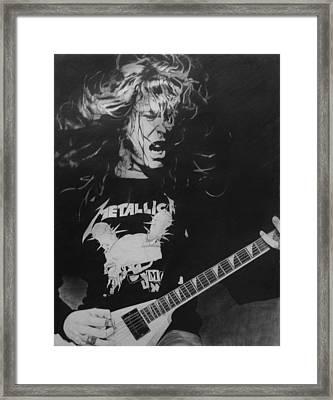 James Hetfield Pencil 1987 Framed Print by Brian Carlton
