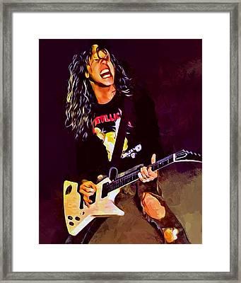James Hetfield Framed Print by Scott Wallace