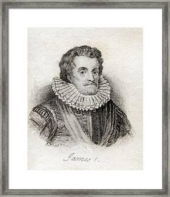 James I 1566-1625 First Stuart King Of Framed Print by Vintage Design Pics