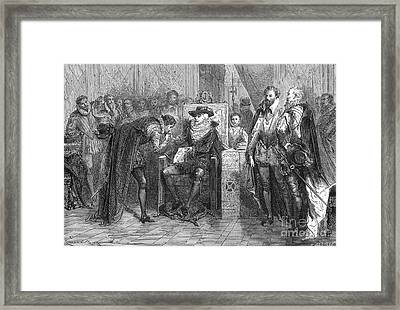 James I Appoints Bacon Lord Chancellor Framed Print by Science Source