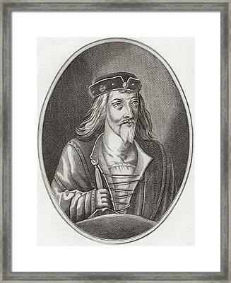 James I, King Of Scots, 1394 Framed Print by Vintage Design Pics
