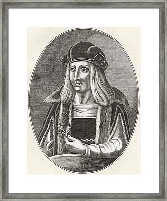 James Iv, King Of Scots, 1473 Framed Print by Vintage Design Pics
