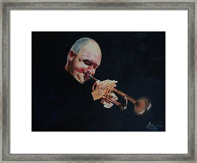 James Morrison In Action   Autographed Framed Print by Dave Manning