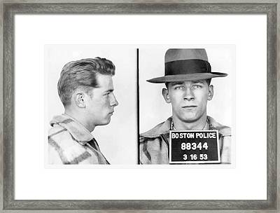 James Whitey Bulger Booking Photo 1953 Framed Print by Daniel Hagerman
