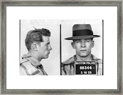 James Whitey Bulger Mug Shot 1953 Horizontal Framed Print by Tony Rubino