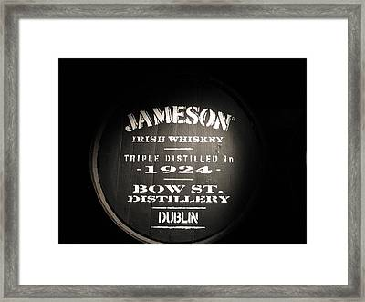 Jameson Framed Print by Kelly Mezzapelle