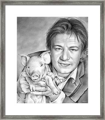 Jamie Oliver Framed Print by Greg Joens