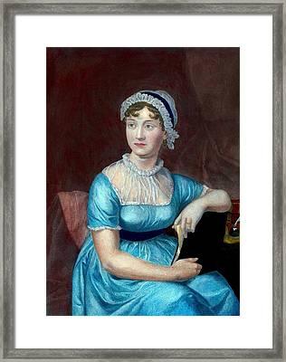 Jane Austen 1775-1817 English Novelist Framed Print by Everett