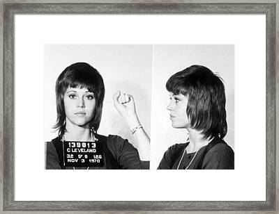 Jane Fonda Mug Shot Horizontal Framed Print by Tony Rubino