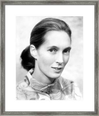 Jane Goodall Framed Print by Everett