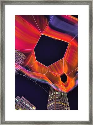 Janet Echelman Sculpture - Boston Framed Print by Joann Vitali