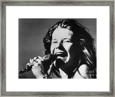 Janis Joplin (1943-1970) Framed Print by Granger