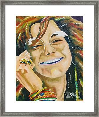 Janis Joplin  Framed Print by Joseph Palotas