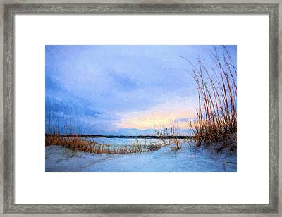 January In Panama City Beach Framed Print by JC Findley