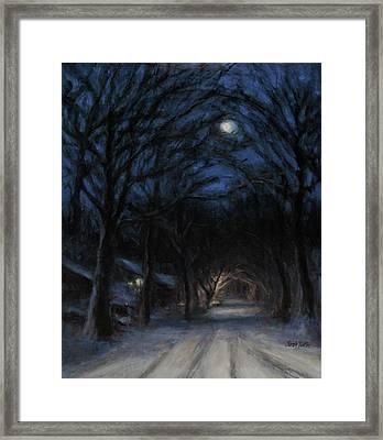 January Moon Framed Print by Sarah Yuster