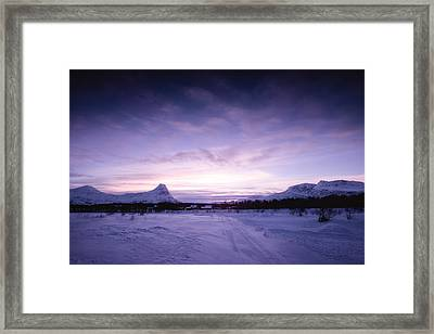 January Framed Print by Tor-Ivar Naess