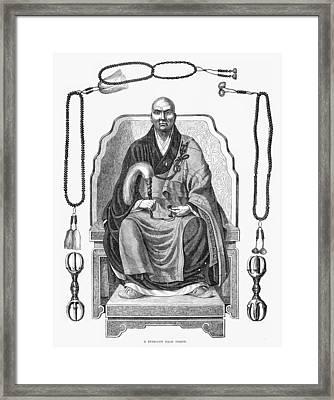 Japan: Buddhist Priest Framed Print by Granger