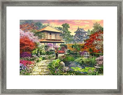 Japan Garden Variant 2 Framed Print by Dominic Davison