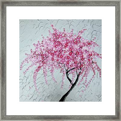 Japanese Cascade Framed Print by Cathy Jacobs
