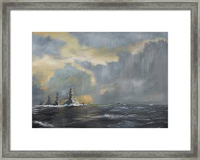 Japanese Fleet In Pacific Framed Print by Vincent Alexander Booth