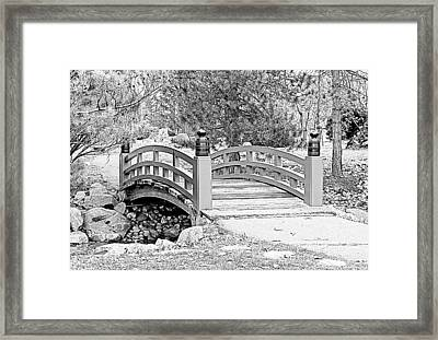 Framed Print featuring the photograph Japanese Garden by Rodney Campbell