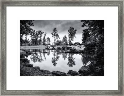 Japanese Gardens - Dawes Arboretum Framed Print by Tom Mc Nemar