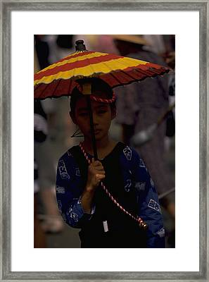 Framed Print featuring the photograph Japanese Girl by Travel Pics