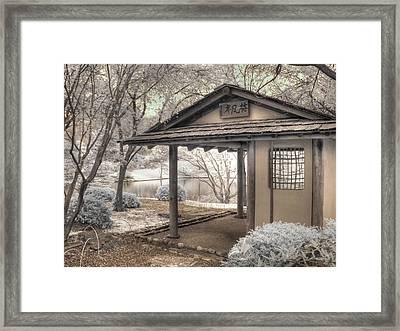 Japanese Tea House Framed Print by Jane Linders
