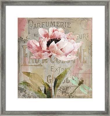 Jardin Rouge I Framed Print by Mindy Sommers
