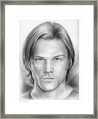 Jared Padalecki Framed Print by Greg Joens