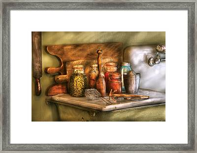 Jars - The Process Of Canning Framed Print by Mike Savad