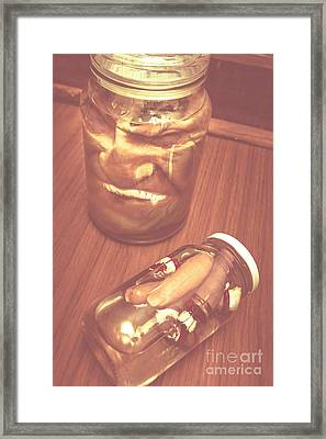 Jars Of Evil Monsters Framed Print by Jorgo Photography - Wall Art Gallery
