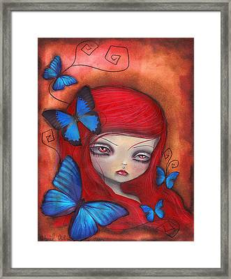 Jarumy Framed Print by  Abril Andrade Griffith