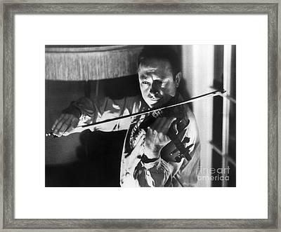 Jascha Heifetz (1901-1987) Framed Print by Granger